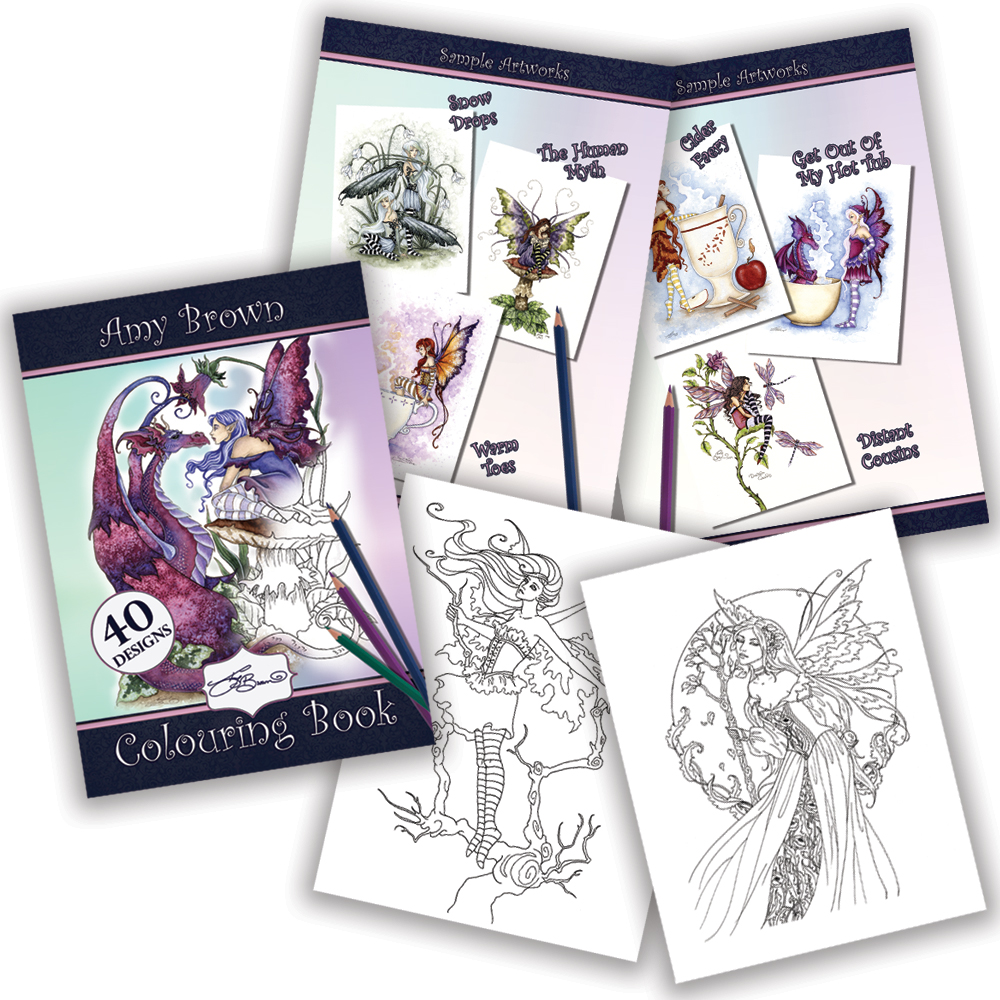 Amy Brown Colouring Book | Nemesis Now Wholesale Giftware