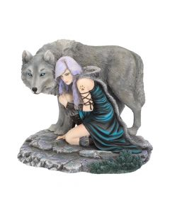Protector Wolf Figurine by Anne Stokes Limited Edition Fantasy Wolf Ornament Medium Figurines