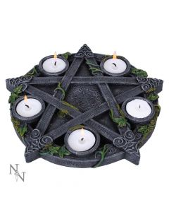 Wiccan Pentagram Tea light Holder 25.5cm Witchcraft & Wiccan Wiccan Premium Range