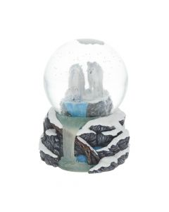 Lisa Parker Warriors of Winter Wolf Snowglobe Artist Wolves