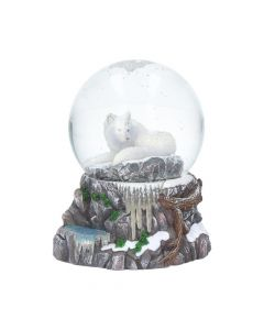 Guardian of the North Snow Globe (LP) 14.5cm Wolves Decorations Artist Collections