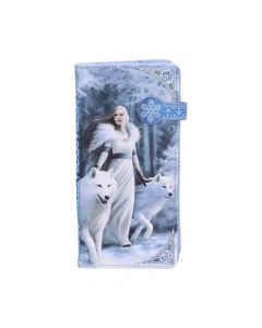 Winter Guardians Embossed Purse (AS) 18.5cm Wolves Mother's Day Artist Collections