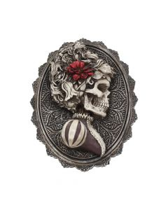 Beautiful Female Skeleton Plaque Day of the Dead Valentine Wall Hanging Skeletons (Premium)