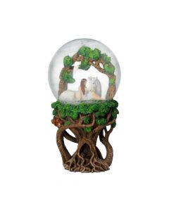 Pure Heart Snow Globe (AS) 18cm Unicorns Artist Collections