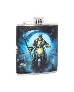 Hell Rider Hip Flask (JR) 7oz Bikers Hipflask Artist Collections