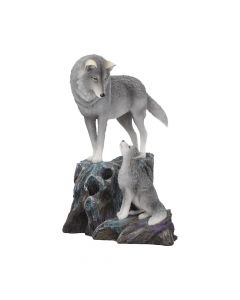 Guidance Ornament Wolf and Pup Figurine by Lisa Parker Easter