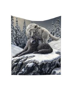 Snow Kisses Throw (LP) 160cm Wolves Mother's Day Artist Collections