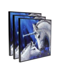 Sacred Love Crystal Clear Picture 40cm Set of 3 Unicorns Artist Unicorns Artist Collections