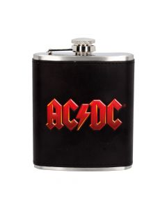 AC/DC Logo Leather Lightning Hip Flask ACDC