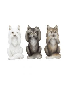 Three Wise Wolves 10cm Wolves NN Small Figurines Premium Range