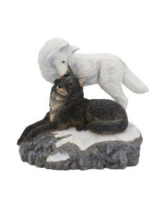Snow Kisses Wolf Figurine by Lisa Parker 20.5cm Lisa Parker Figurines