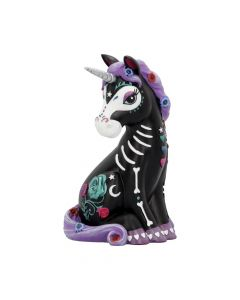 Sugarcorn Black Day of the Dead Skeleton Unicorn Figurine NN Medium Figurines