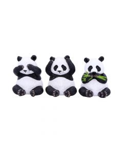 Three Wise Pandas 8.5cm Animals Popular Products - Light Premium Range