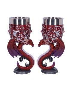 Dragons Devotion Goblets 18.5cm (Set of 2) Dragons Mystic Love Collection Nicht spezifiziert