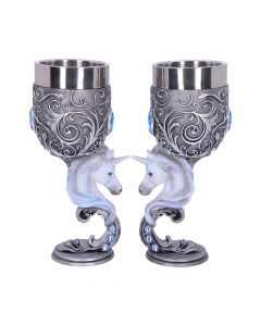 Enchanted Hearts Goblets 18.5cm (Set of 2) Unicorns Mystic Love Collection Nicht spezifiziert