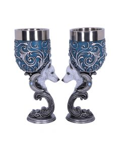 Wild at Heart Twin Wolf Heart Set of Two Goblets Mystic Love Collection