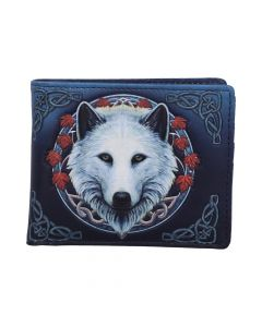 Lisa Parker Guardian of the Fall White Autumn Wolf Wallet New in Stock