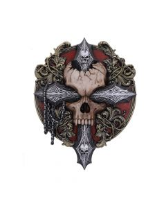 Cross Of Darkness Wall Plaque 32cm Skulls New Products Artist Collections