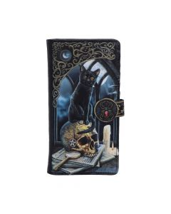 Lisa Parker Spirits of Salem Black Cat Skull Map Embossed Purse New in Stock