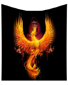 Anne Stokes Phoenix Rising Mythical Burning Bird Throw Blanket New Product Launch