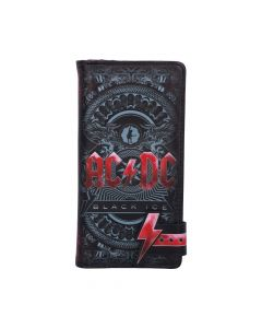 ACDC Black Ice Embossed Purse 18.5cm Band Licenses New Product Launch Artist Collections