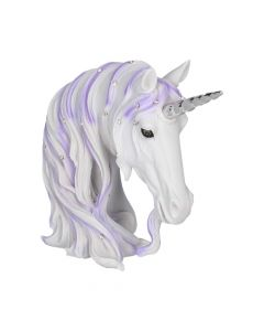 Jewelled Magnificence Small White Unicorn Bust Ornament Unicorns