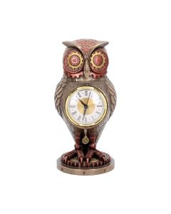 Tick Toot Moving Steampunk Owl Clock Steampunk