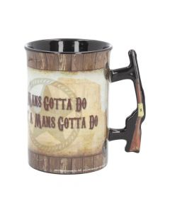 Mug - John Wayne - A Mans Gotta Do 16oz Cowboys & Wild West Stocking Fillers Premium Range