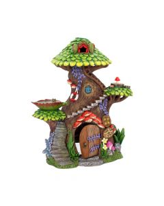 Tree Top Spa House 25.5cm Fairies Fairy Village Premium Range