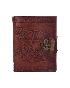 Pentagram Leather Emboss Journal+Lock(SIW) Witchcraft & Wiccan Wiccan Premium Range