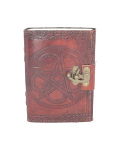 Pentagram Leather Embossed Journal & Lock Witchcraft & Wiccan Wiccan Premium Range