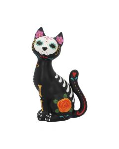 Sugar Kitty Figurine Day of the Dead Cat Ornament Day of the Dead