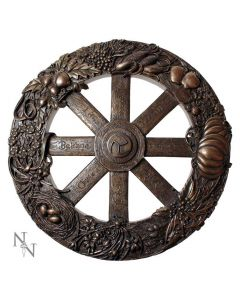 Wheel Of The Year Plaque Pagen Holiday Calendar 25cm Wiccan