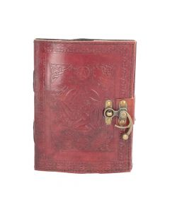 Pentagram Leather Journal w/lock 15 x 21cm Witchcraft & Wiccan Wiccan Premium Range