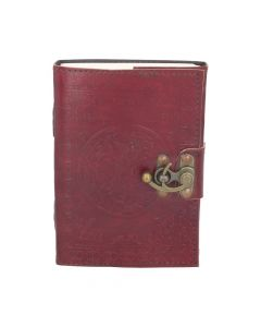 Tree Of Life Red Leather Journal (small) 13 x 18cm Wiccan