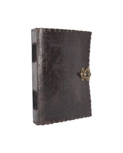 Celtic Cross Leather Journal 25 x 18cm Witchcraft & Wiccan Wiccan Premium Range