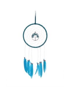 Turquoise Tree of Life Dreamcatcher With Matching Feathers Wiccan