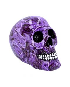 Purple Rose Romance Skull Ornament Skulls (Premium)