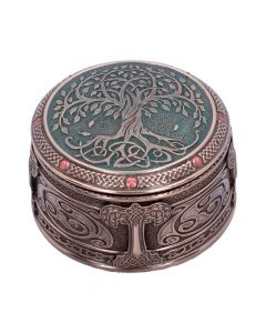 Round Tree of Life Celtic Trinket Box Wiccan