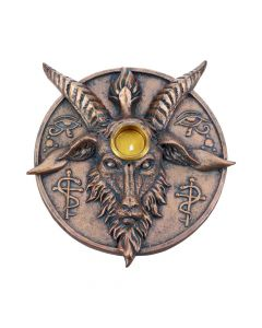 Baphomet's Prayer Sabbatic Goat Incense Stick and Candle Holder New in Stock