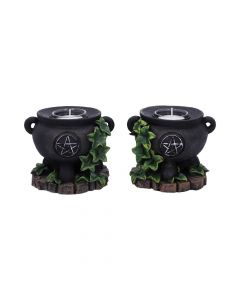 Ivy Cauldron Candle Holder 11cm (Set of 2) Witchcraft & Wiccan New Product Launch Premium Range