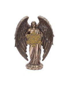 Bronzed Flower Of Life Metatron Archangel Figure 26cm Figurines Medium (15-29cm)