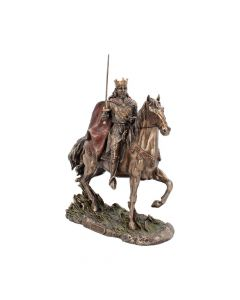 Bronzed King Arthur Of The Round Table Riding Llamrei 30cm Figurines Large (30-50cm)