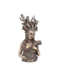 Bronzed Mother Earth Gaia Bust 26cm Erdgöttin