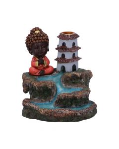 Zen Temple Backflow Incense Burner 13cm Buddhas and Spirituality New in Stock Nicht spezifiziert