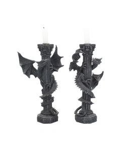 Guardians of the light Dragon Candle Holders (Set of 2) 28cm Dragons