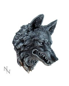 Menacing Grey Snarling Wolf Wall Plaque Wolves