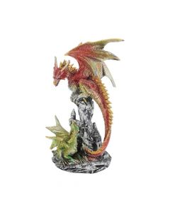 Dragon Teaching Figurine Fantasy Dragon and Dragonling Ornament Mother's Day