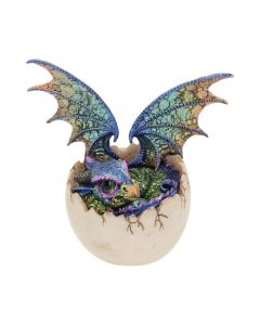 Imoogi Figurine Cute Dragon in Egg Fantasy Ornament Dragons