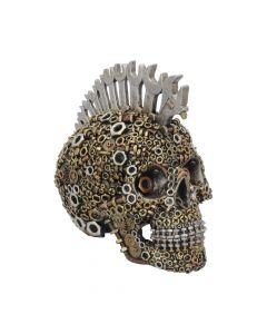 Mechanically Minded Large Steampunk Mohawk Skull 21.5cm Skulls